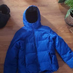 Boys royal blue polo winter coat